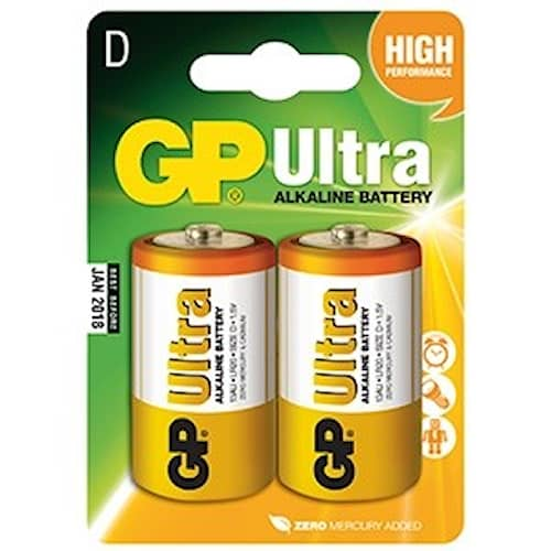 GP Ultra LR20 Batteri
