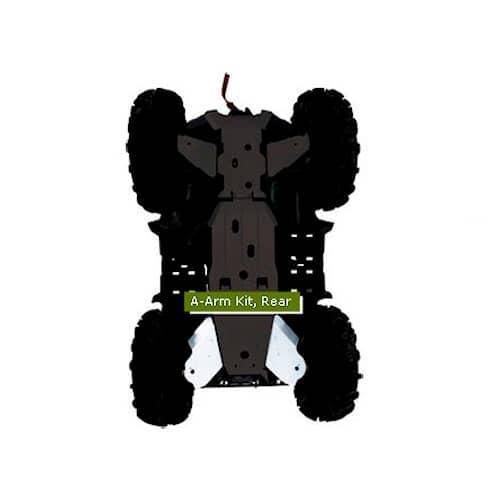 Warn Hasplåtar A-Armar bak Yamaha Grizzly