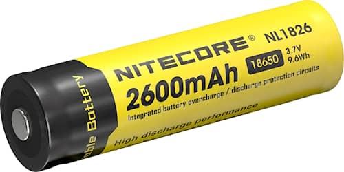 Nitecore 18650, 3,7V, 2600 mAh Batteri