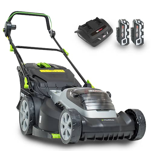 Murray Twin 18V 44 cm Batterigräsklippare Paket