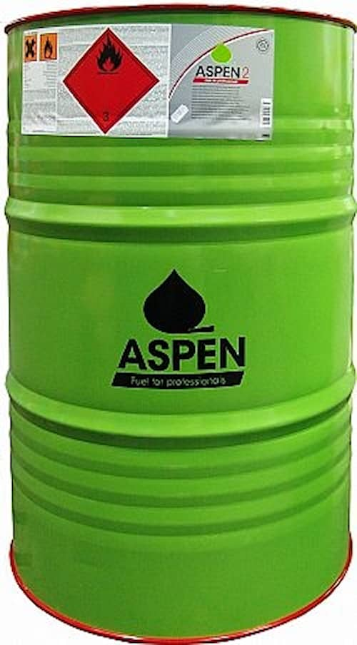 Aspen 2 Alkylatbensin fat 200l, Miljöbensin oljeblandad