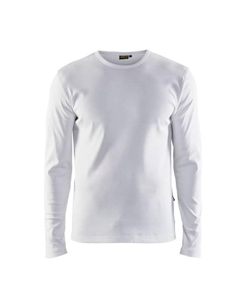 T-shirt, lång ärm Vit