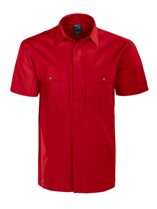 ProJob 5205 K.ä Skjorta Röd XS