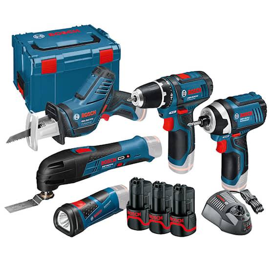 Bosch 12V Professional verktygsset 12 V-LI med 5 sladdlösa maskiner