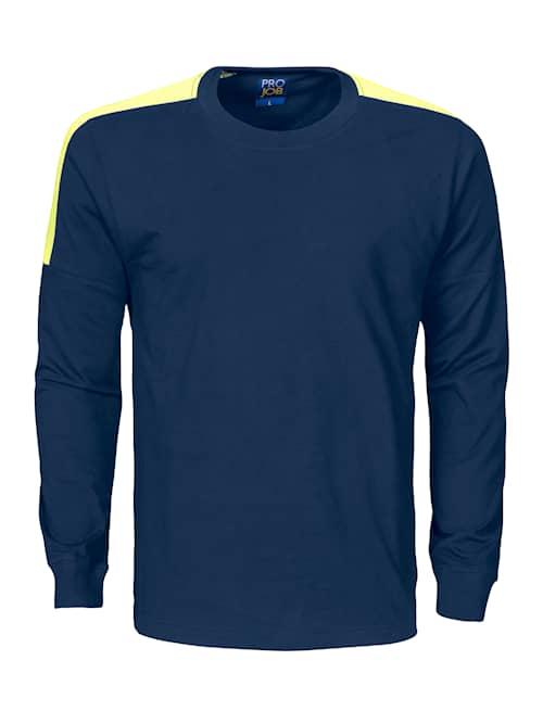 ProJob 2020 Marin/Gul XS T-Shirt Långärmad