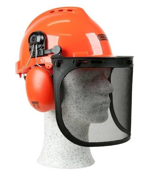 Säkerhetshjälm med hörselskydd, nackskydd