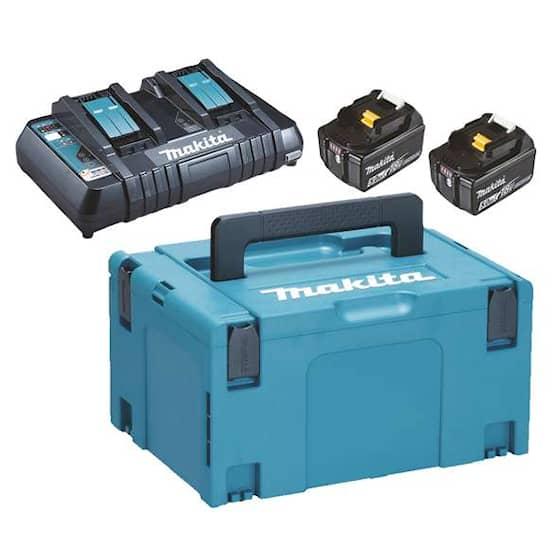 Makita Batteri & laddare Powerpack 2st 5 Ah BL1850B & lad