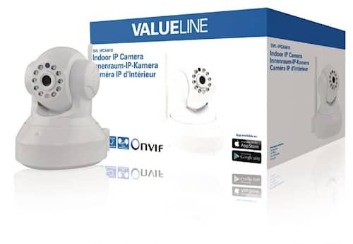 Valueline HD Pan-Tilt Kamera Inomhus 720P Vit