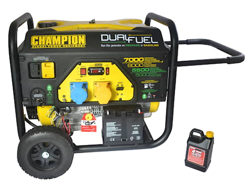 Champion 7000w Dual Fuel elverk med elektrisk start