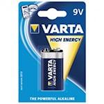 Varta High Energy 9V Batteri, 1000000327