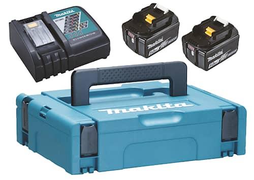 Makita Batteri & laddare 18V 2st 5 Ah BL1850B + laddare D