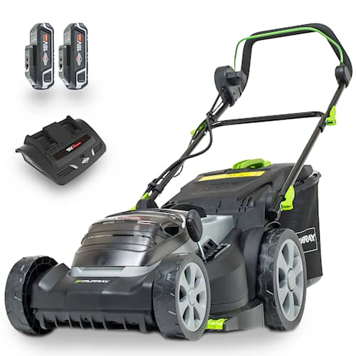 Murray Twin 18V 37 cm Batterigräsklippare Paket