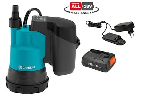 Gardena Dränkbar pump för rent vatten 2000/2 18V P4A Set