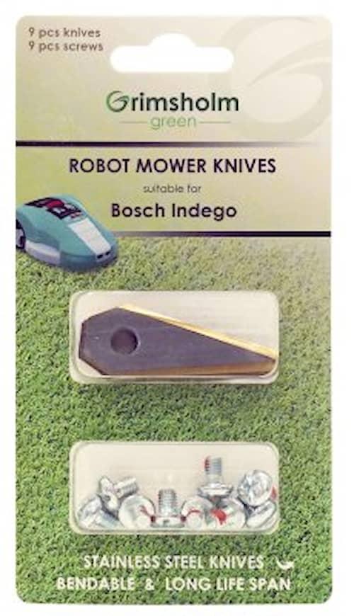 9-pack knivar till Bosch Indego