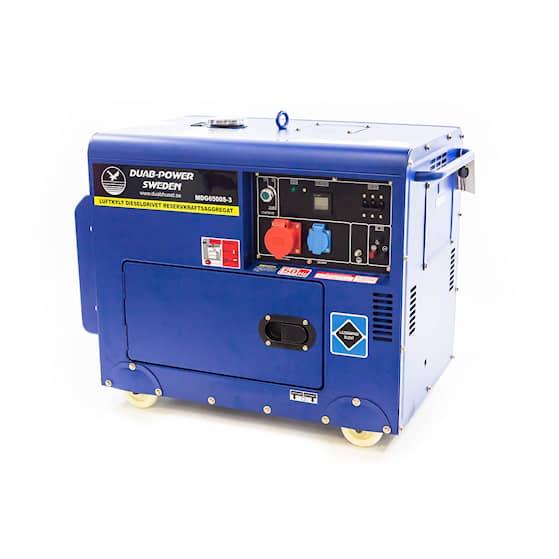 DUAB-POWER Elverk MDG6500S-3 3-fas diesel tystgående