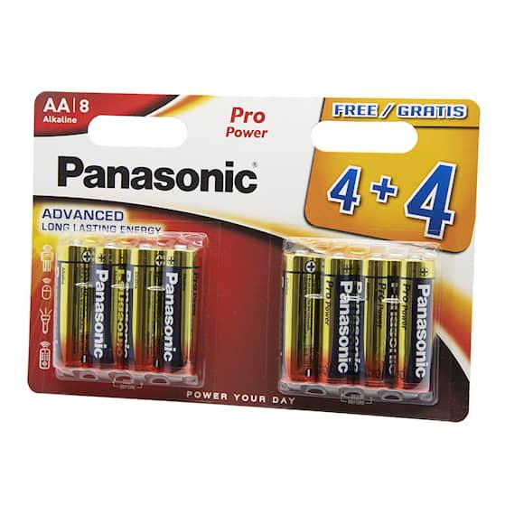 5st 8-Pack Panasonic Pro Power AA-batterier