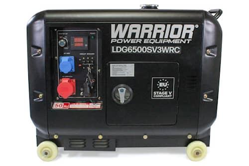 Warrior 6.25 kVa 5500w 3-fas Dieselelverk