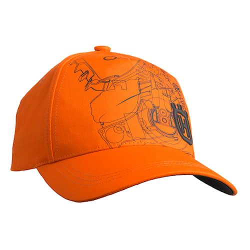 Husqvarna Xplorer Keps Pioneersåg Orange