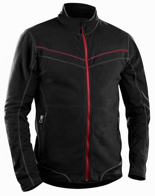 Micro fleece jacket Svart