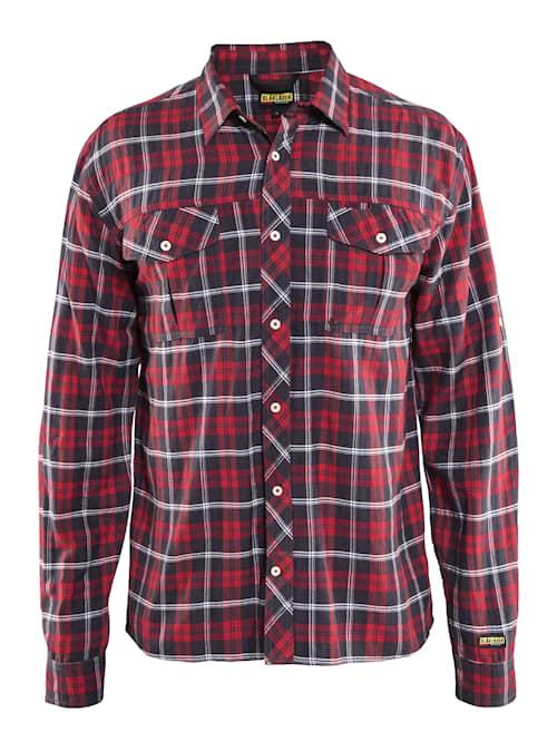 Skjorta  Röd/Marinblå