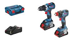 Bosch Verktygspaket GSR 18 V-60 C/GDX 18V-200C med 2st 4Ah ProCore i L-BOXX, 4000000119