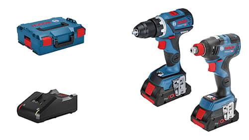 Bosch Verktygspaket GSR 18 V-60 C/GDX 18V-200C med 2st 4Ah ProCore i L-BOXX