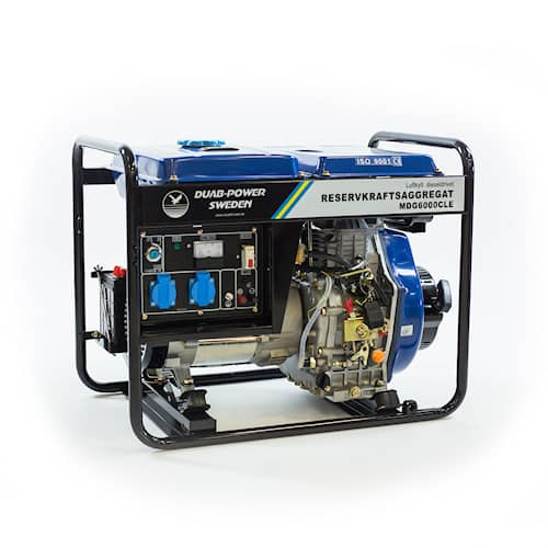DUAB-POWER Elverk MDG6000CLE 1-fas diesel fjärrstart