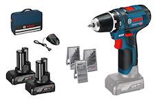 Bosch GSR 12V-15 Skruvdragare i väska + 39-delars tillbehörssats, 1000113862