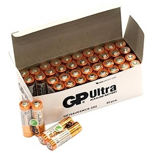 GP Ultra 40-Pack AA Batteri