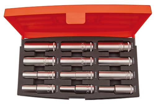 Bahco Hylssats S1612L 1/2'' långa hylsor