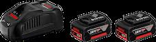 Bosch 18 V-Li 2x6,0Ah Laddare Batteriset, 1000132273