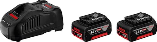 Bosch 18 V-Li 2x6,0Ah Laddare Batteriset