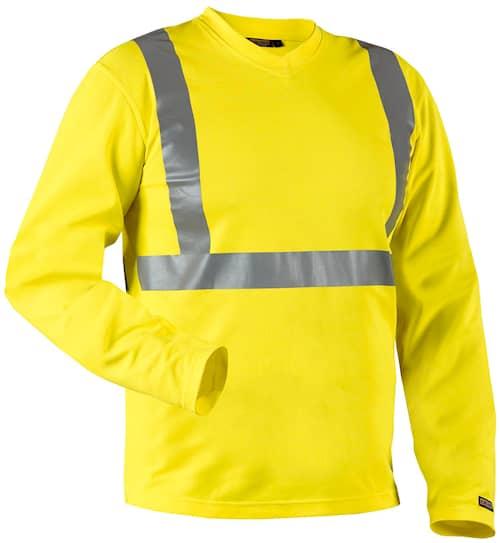 T-shirt lång ärm, varsel, UV-skydd Gul