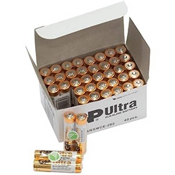 GP Ultra 40-Pack AAA Batteri