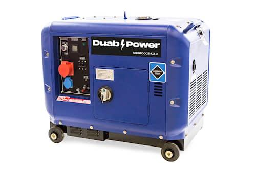 DUAB-POWER Elverk MDG6000S-KQ-3 3-fas diesel tystgående
