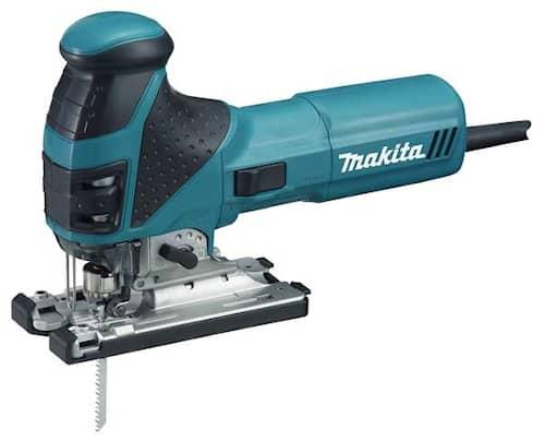 Makita 4351FCTJ rak med belysning i MAKPAC Sticksåg