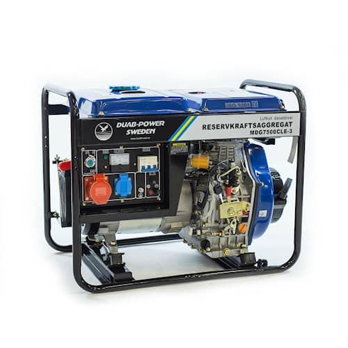 Elverk MDG7500CLE-3 3-fas diesel