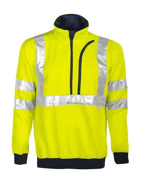 ProJob 6102 Sweatshirt HV Klass 3 Gul/Marin XS