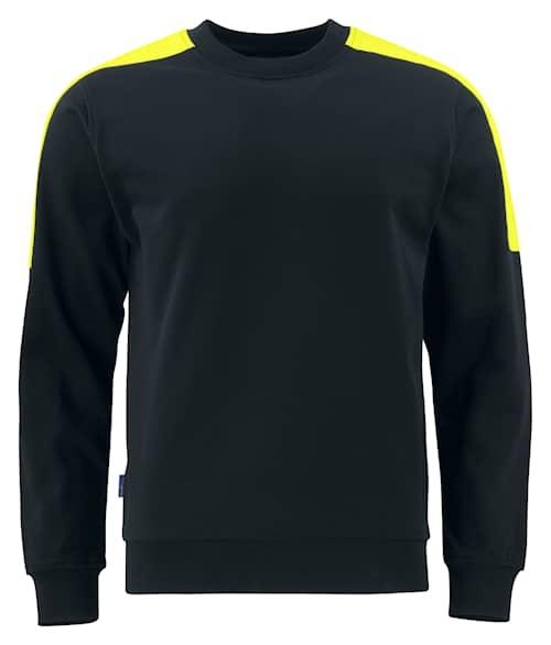 ProJob 2125 Sweatshirt Svart/Gul 4XL